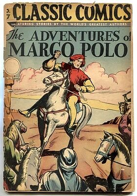 Classic Comics #27 2Nd Print Hrn30 1946 Classics Illustrated Marco Polo
