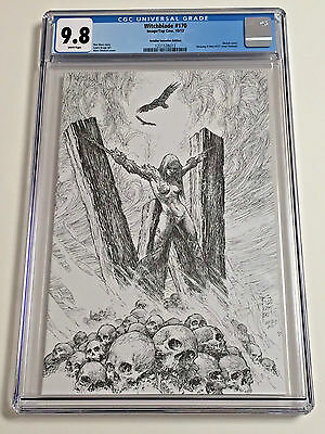 Witchblade #170 CGC 9.8 Retailer Variant X-Men Homage Silvestri Sketch Cover