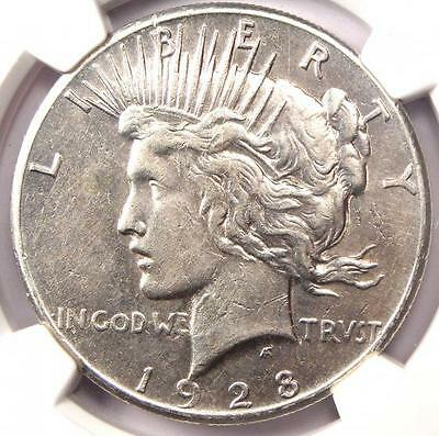 1928 Peace Silver Dollar $1 - NGC XF Details (EF) - Rare 1928-P Key Date Coin