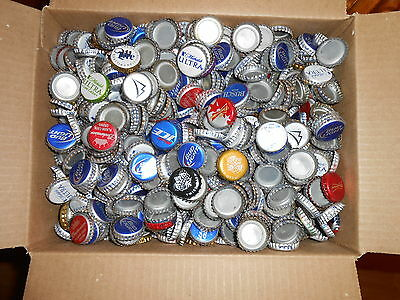 BEER BOTTLE  CAPS  1500+  ASSORTED BRANDS 7lbs Lot #43 Shipping $11.00