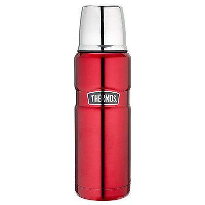 NEW Thermos 470ml Vacuum Flask - Red Double wall vacuum insulation