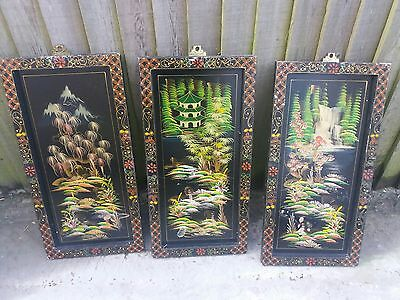 old decorative painted panels