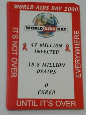 Lot of 14: World Aids Day 2000 (Utah), New Unused Postcards