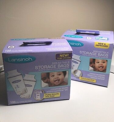 NEW Lansinoh Breastmilk Storage Milk Pump Freezer Bags 175 BPA Free Double Seal