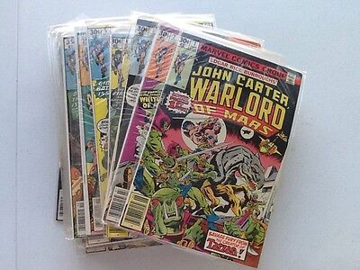 John Carter Warlord Of Mars #1-28 Complete Run 1977 Marvel Comics Bronze