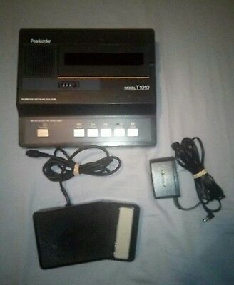 Olympus Pearlcorder T1010 Transcriber Transcription Machine Microcassette