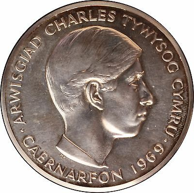 1969 Prince Charles Investiture Silver Medal