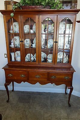 Solid Cherry China Closet and Sideboard 2 pieces