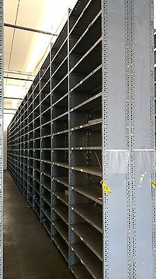 Gray Metal Industrial Shelving Units in 6' & 12' Tall Sections
