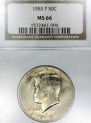 1983-P MS66 Kennedy Half Dollar 50c graded by NGC!