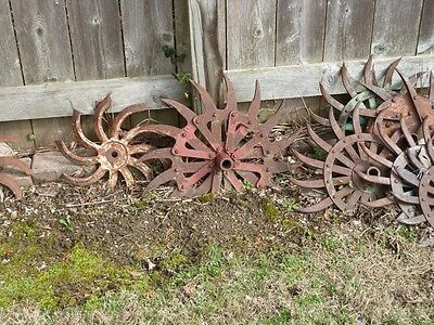 100 Antique/ Tiller Head / Rotary-hoe wheel, Cultivator Wheels