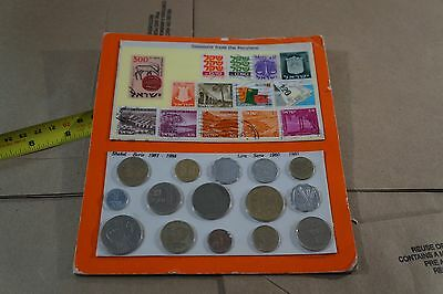 Vintage Pre-1985 Souvenir of the Holy Land Stamp and Coin Collection
