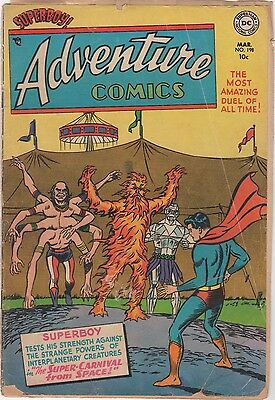 Adventure Comics #198 - DC Comics 1954 - Supercarnival from Space!