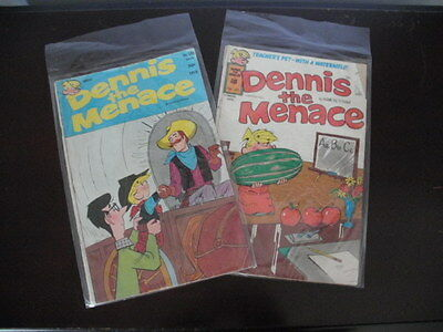 Dennis the Menace Comic books~lot of 2~1976~1979~