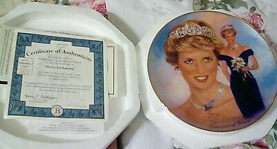 Diana Princess of Wales plate with certificate