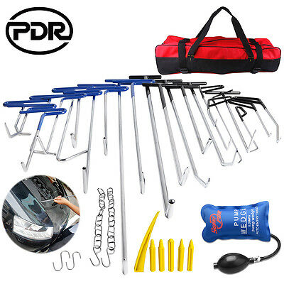 PDR Tools Push Rods Paintless Dent Repair Spring Steel Auto Body Kits Tail Set