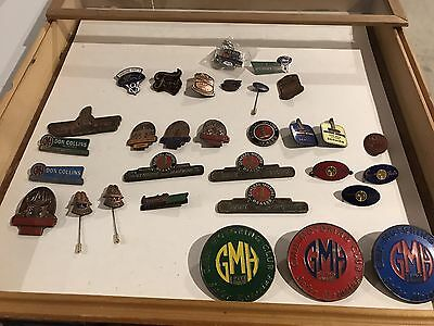Gmh Ford Petrol Motor Oil Cap Hat Badge Car Pin Tin Sign Holden Motor Pick One