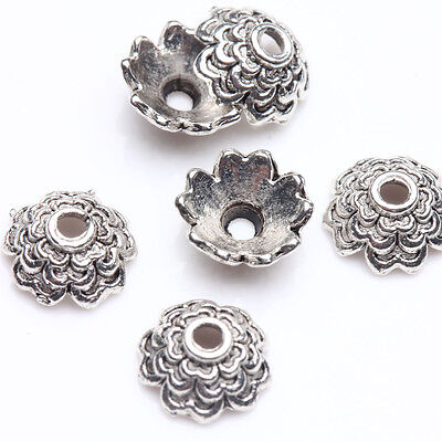 Wholesale Lots 100Pcs Tibetan Silver Loose Spacer Beads Caps for Jewelry Making