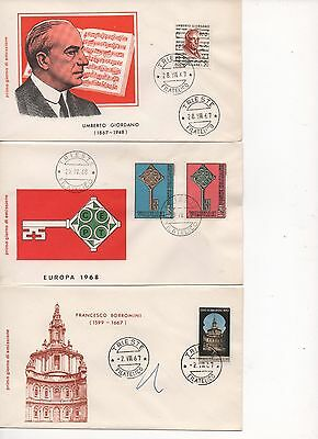 ITALY - 15x FDC's - from 1967 and 1968 and 4x FDC Postcards