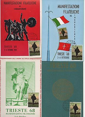 ITALY - 14x FDC Postcards from 1968