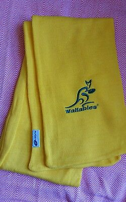 New Genuine Licensed Gold Wallabies Australia Scarf With Embroided Logo