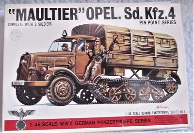 "Bandai Vintage WW2 Opel ""Maultier"" 1:48 Kit with Figures"