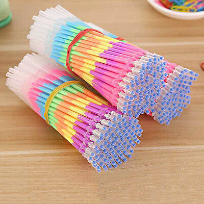 20x Multicolor Rainbow Highlighters 0.5mm Gel Pen Refills School Supplies Beamy