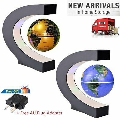 C Shape LED World Map Decoration Magnetic Levitation Floating Globe Light P5