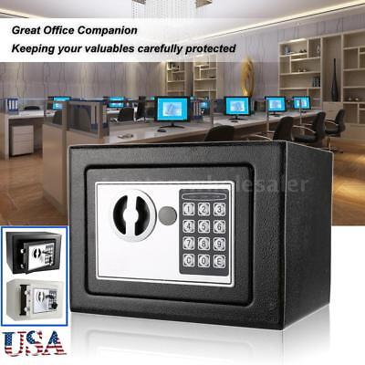 Digital Electronic Safe Box Keypad Lock Security Wall Mount for Home Office F3L0