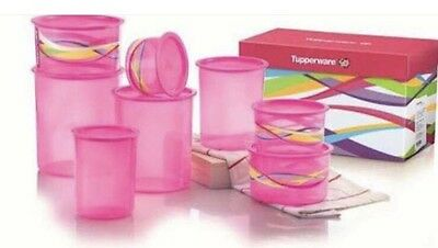 💕Tupperware One Touch Canister Set Pink RRP $215 Brand New💕