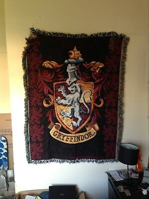 Harry Potter -Gryffindor Crest Woven Tapestry Throw