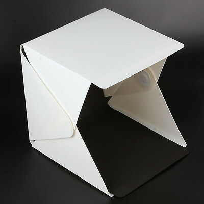 "Light Room Photo Studio 9"" Photography Lighting Kit Mini Backdrop Cube Box"