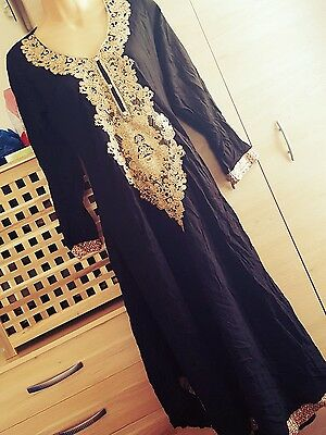 ladies black and gold kurti
