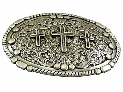 Nocona Oval Crosses Rope Belt Buckle Western Buckle Cowboy USA