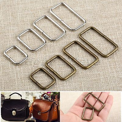 20Pcs Square Ring Webbing Buckles Belt Garment Luggage Sewing Bag Purse Buttons