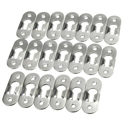 10/20pc Silver Tone Metal Keyhole Hanger Fasteners for Picture Frames 44 x 16mm
