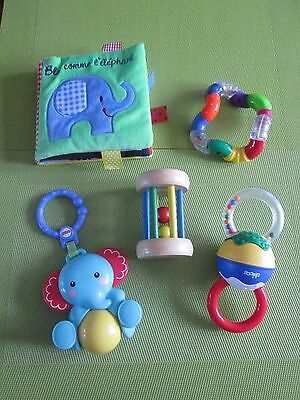 Lot jouets d'eveil 1er age en tbe, fisher price, chicco