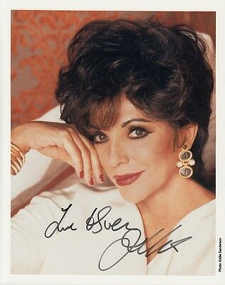 "JOAN COLLINS  - 10"" x 8"" Portrait Photograph PERSONALLY SIGNED To SVEN F#10"