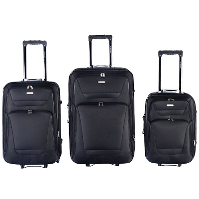 Luggage Travel GLOBALWAY Expandable 3 PCs Set Trolley Bag Suitcase 2 Wheels