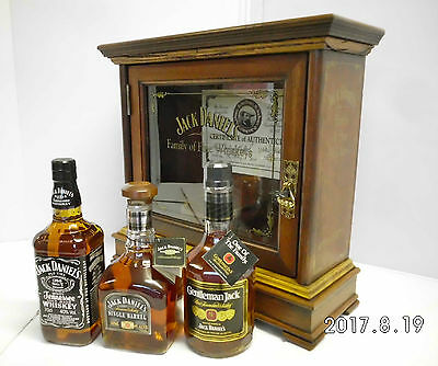 Jack Daniels FOB Cabinet Ltd Edit From 2006-Complete With Bottles-RARE!!!!!!!