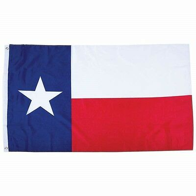 4'x6' Polyester TEXAS STATE FLAG Lone Star TX USA Metal Grommets Red White Blue