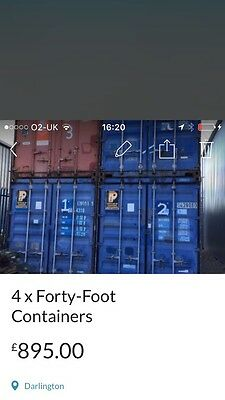 Forty-foot Shipping/Storage Containers