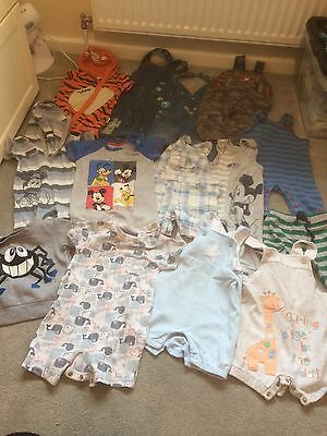 Bundle Of Boys 6-9 Months Clothes (16 Items) Dungarees,rompers, Disney & More ⭐️