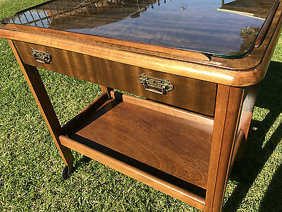 ANTIQUE TEA/DRINKS, BUTLERS TROLLEY WITH DRAWER 1900's (NOT REPRODUCTION)