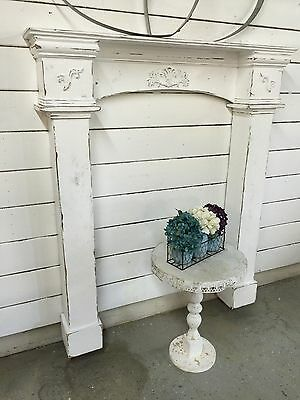 Fireplace Mantle with surrounds,Fireplace Surrounds,Prmitive Mantle with legs,48