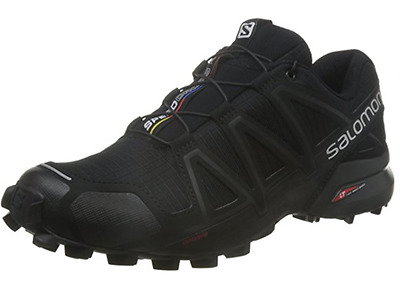 Salomon Speedcross 4 Bk/Bk, Scarpe da Trail Running Uomo