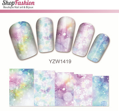 Stickers Ongles Water Décal Nail Art YZW-1419 Fleur