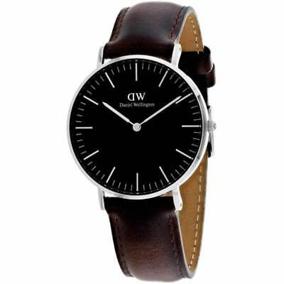 original daniel wellington classic black cornwall silber. Black Bedroom Furniture Sets. Home Design Ideas