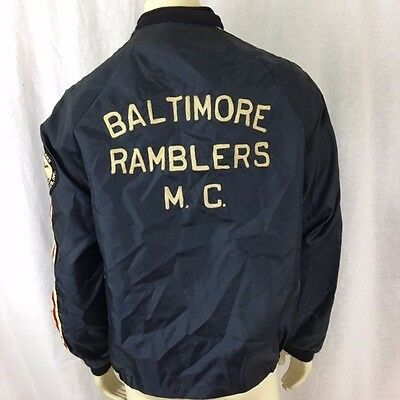 Vintage 70s Crown California Baltimore Ramblers Motorcycle Honda 750 Zip Jacket