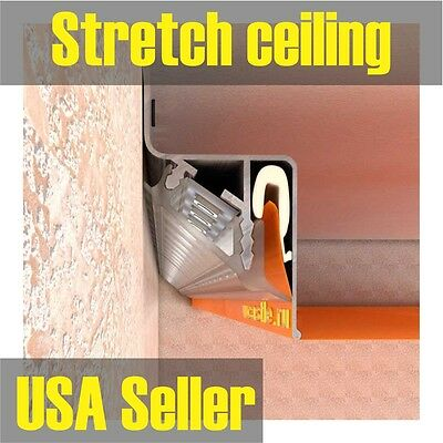 Stretch ceiling TRACKING SYSTEM PERIMETER TRACKS for lighting   1ln.ft. for $4